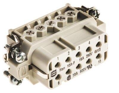 09200102812 10pin zásuvka na panel 16A 250V
