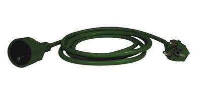 Predlžovací kábel - 5m zelený